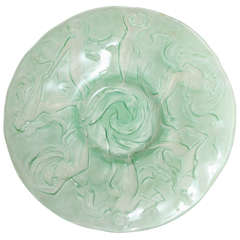 Phoenix Glass Dish With Dancing Nymphs