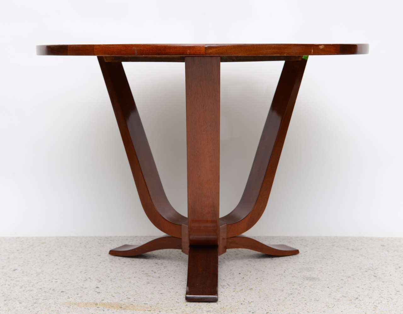 French Late Art Deco Mahogany Occasional Table For Sale