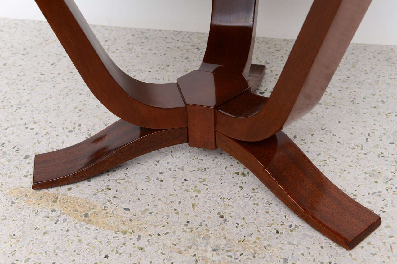 Mid-20th Century Late Art Deco Mahogany Occasional Table For Sale