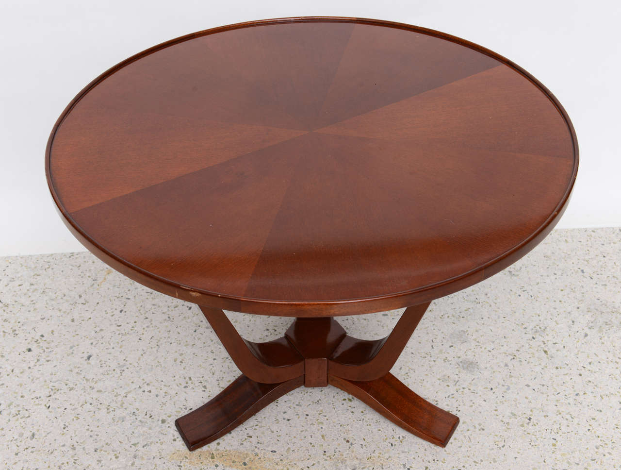 Late Art Deco Mahogany Occasional Table For Sale 1