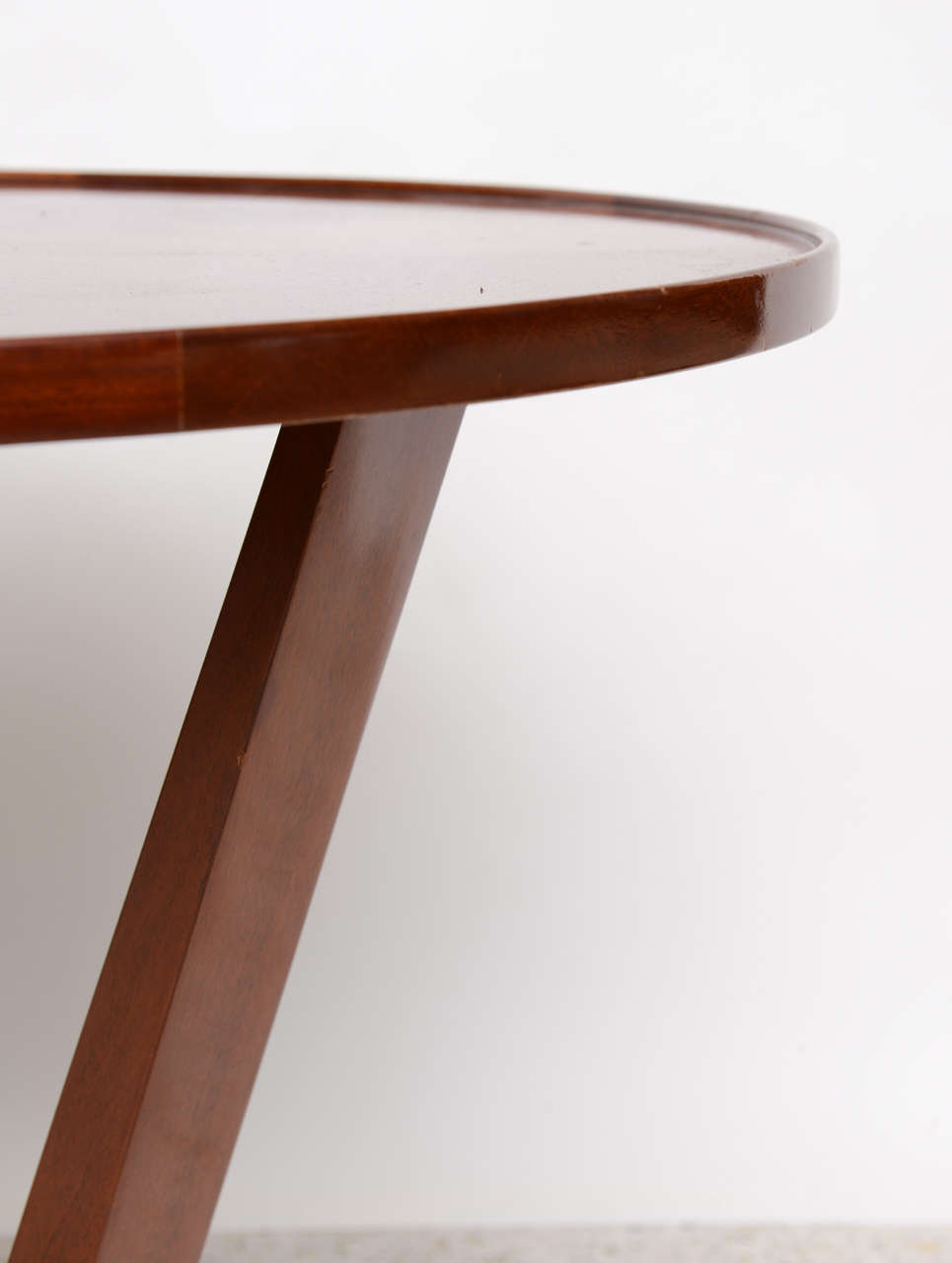Late Art Deco Mahogany Occasional Table For Sale 4