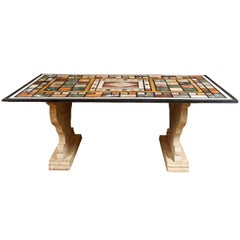 Late 19th c. Roman Specimen Marble Topped Table