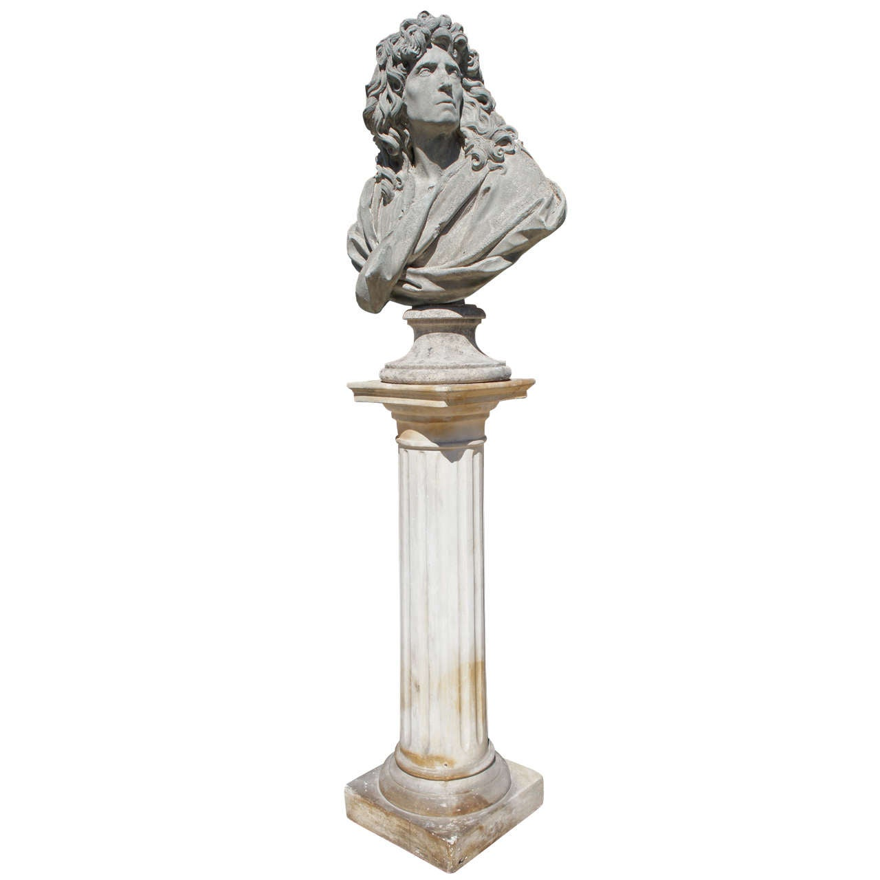 stands auction and leonard detail lot pedestal pedestals marble plant plaster sale auctions catalog