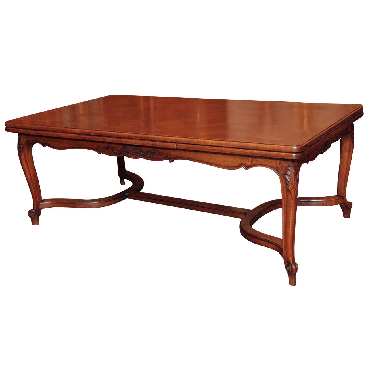 Antique French Oak Dining Table With End Leaves At 1stdibs. Full resolution  img, nominally Width 1280 Height 1280 pixels, img with #A14B2A.