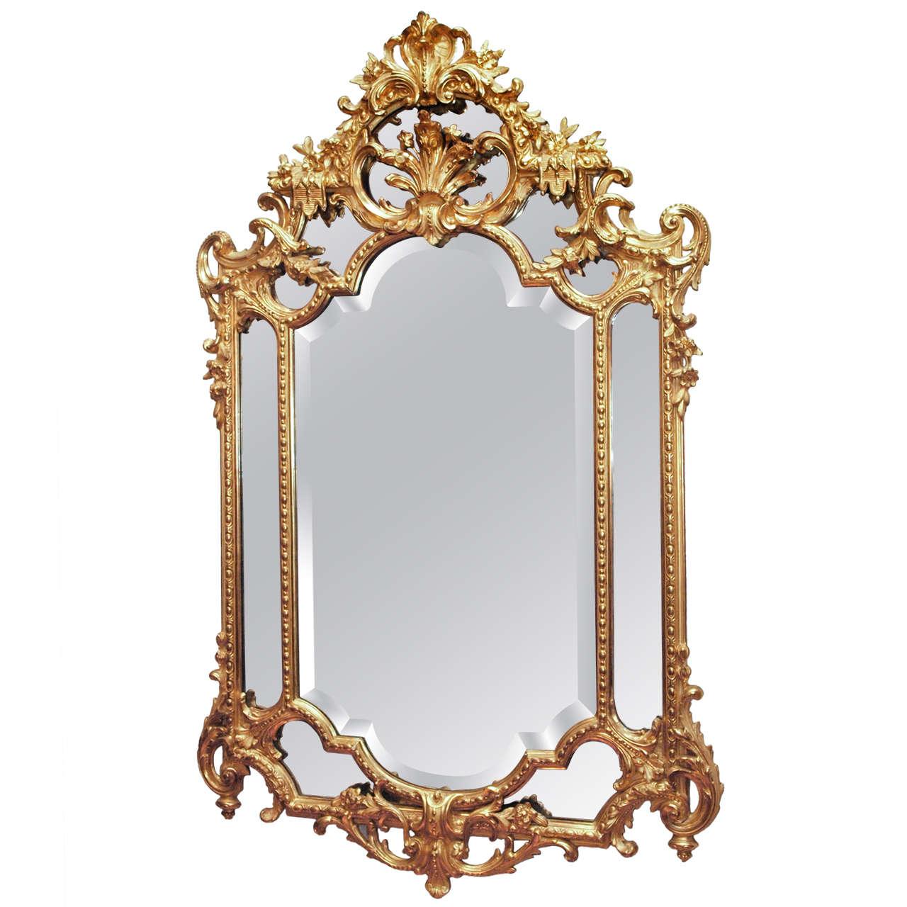 Antique Original Gold Leaf Mirror Circa 1880 For Sale At