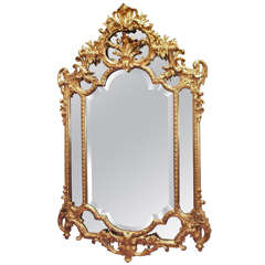 Antique Original Gold Leaf Mirror circa 1880