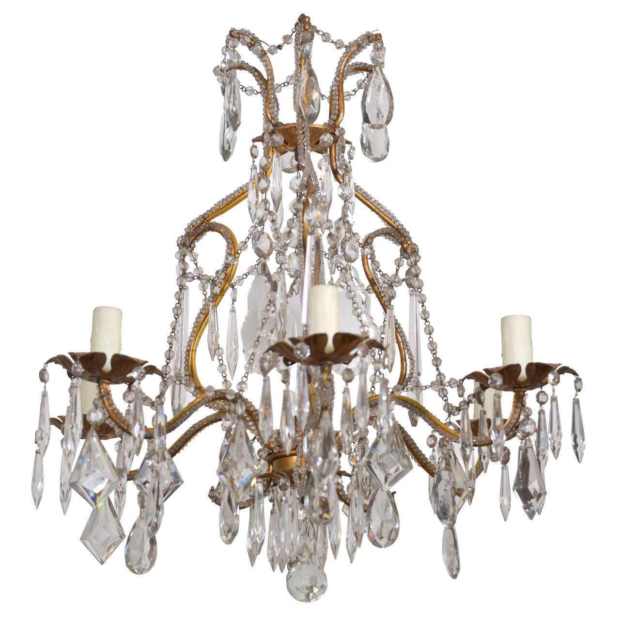 19th Century Crystal Venetian Chandelier