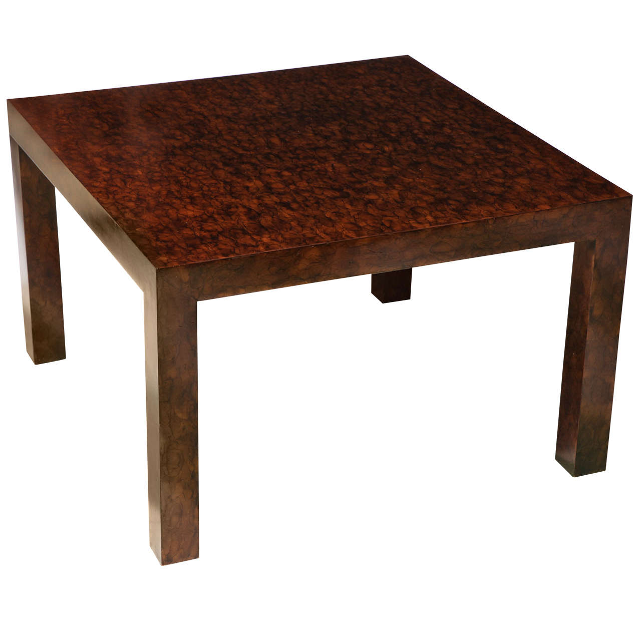 Faux Tortoise Parsons Style Coffee Table In The Style Of Billy Baldwin For Sale At 1stdibs