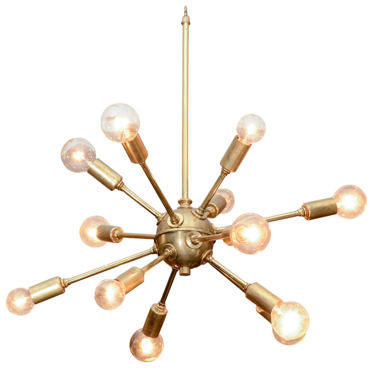 Vintage Sputnik Brass Light Fixture At 1stdibs