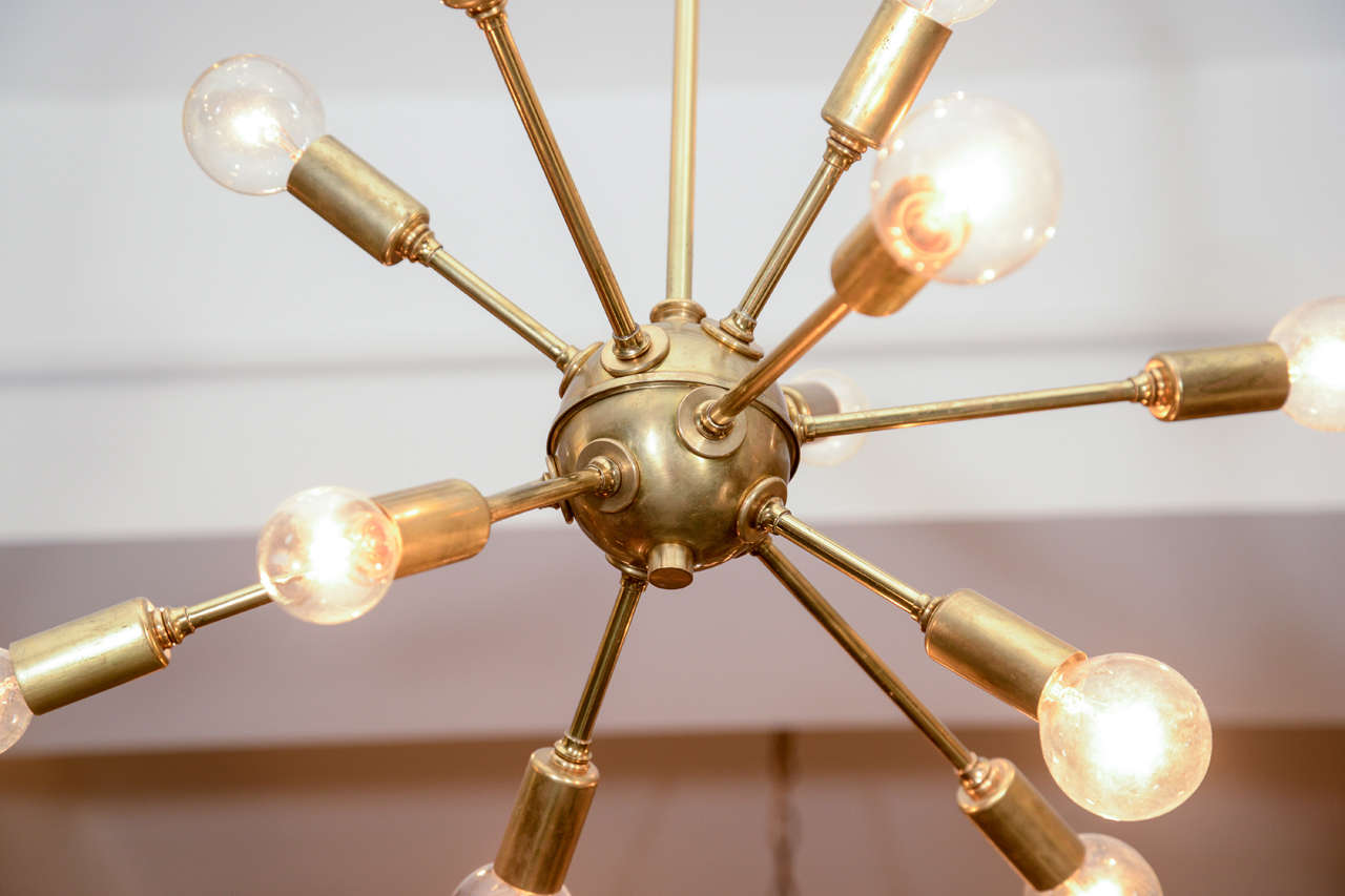 vintage sputnik brass light fixture at 1stdibs. Black Bedroom Furniture Sets. Home Design Ideas
