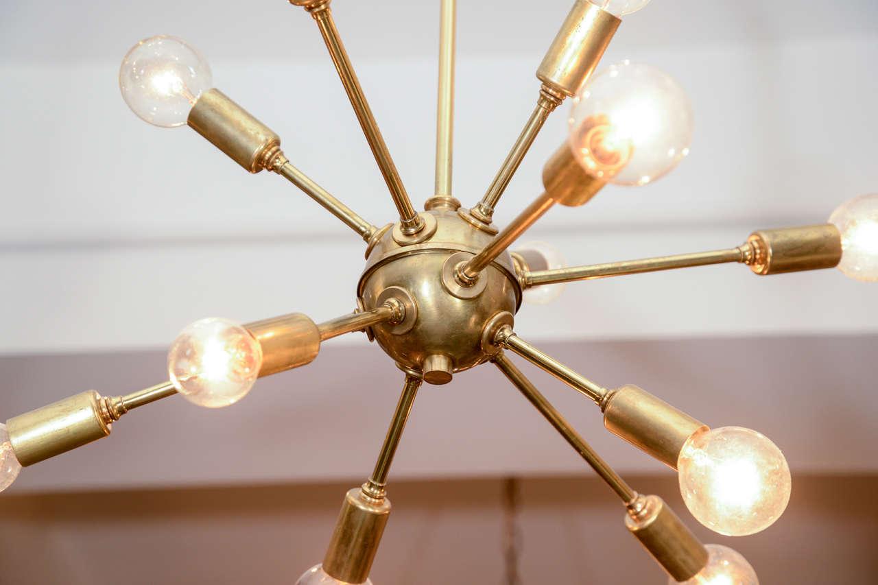 vintage sputnik brass light fixture at stdibs - vintage sputnik brass light fixture
