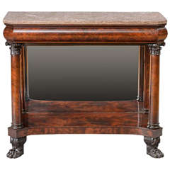 American Empire Carved Mahogany Pier Table