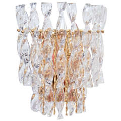 Sciolari 2 Tier Spiral Crystal Sconce, 3 Available
