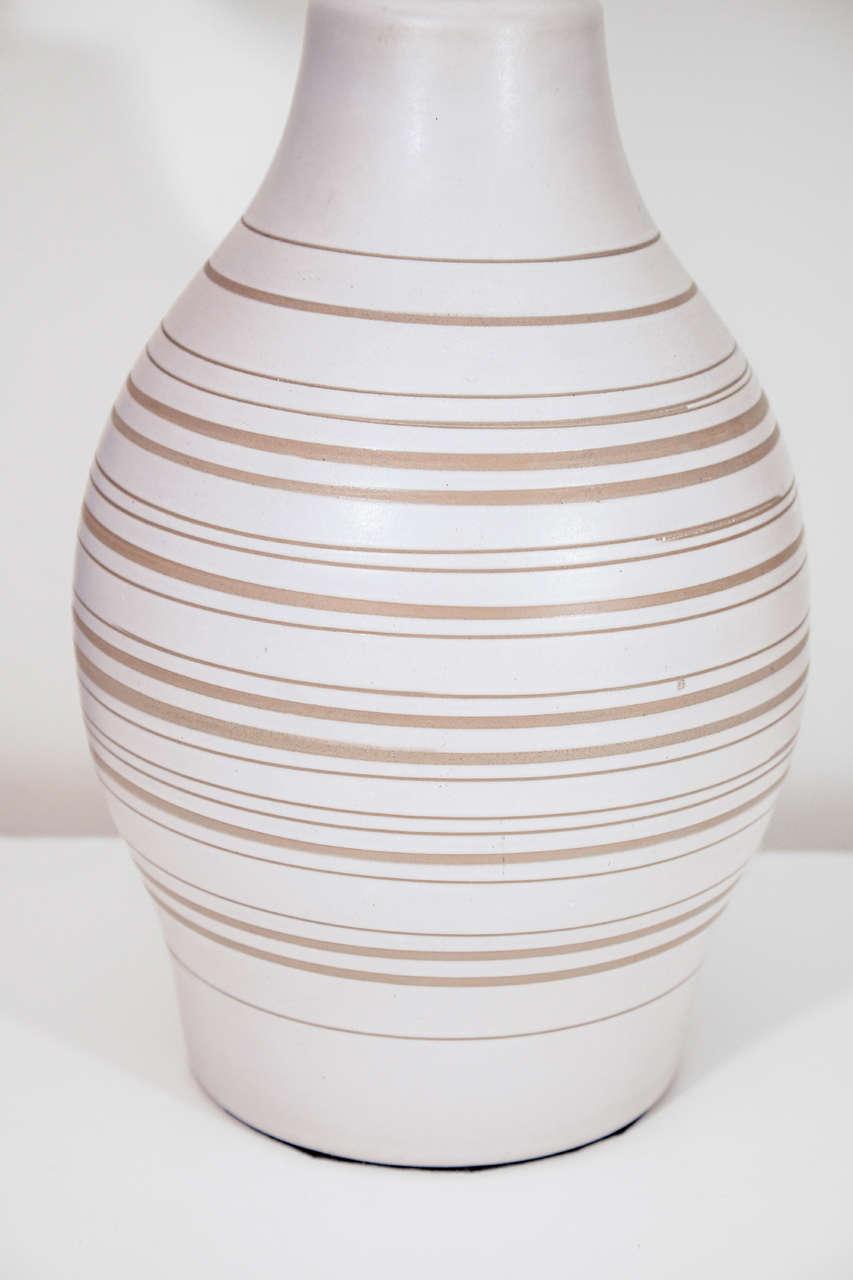 Mid-Century Modern Gordon Martz Horizontal Striped Lamp For Sale