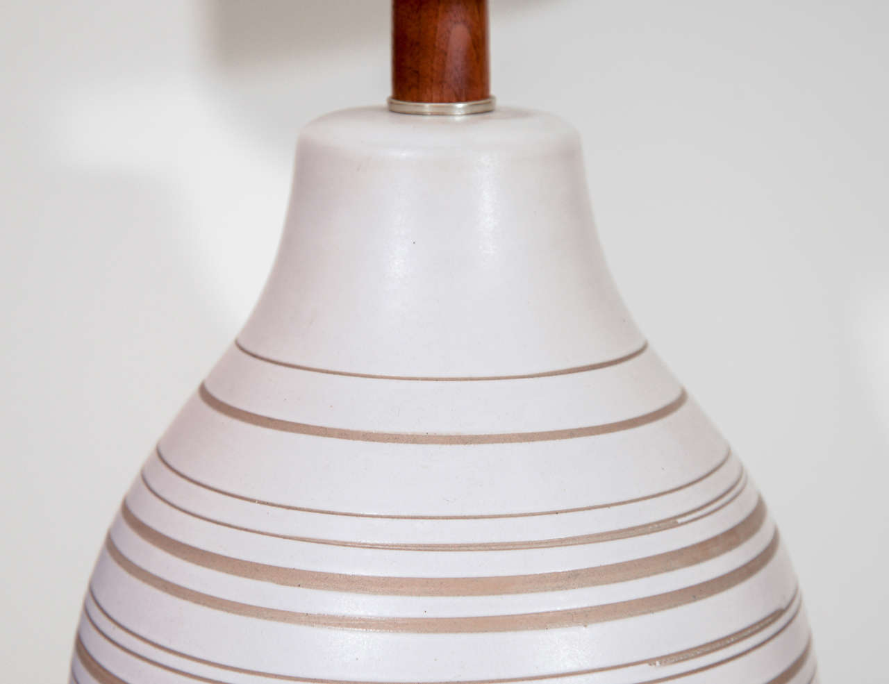 American Gordon Martz Horizontal Striped Lamp For Sale