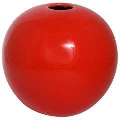 Red Orb Vase
