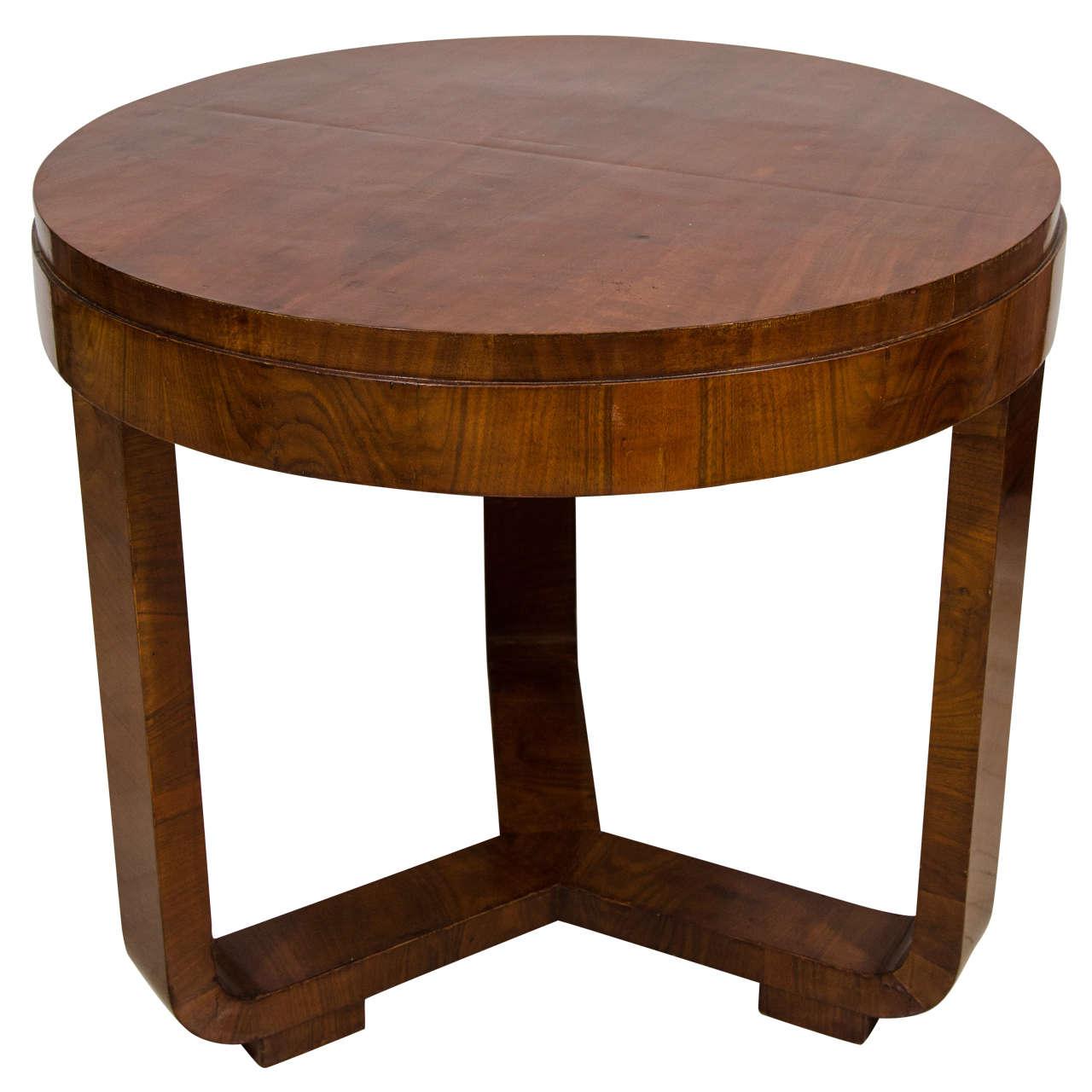bauhaus style round walnut table at 1stdibs