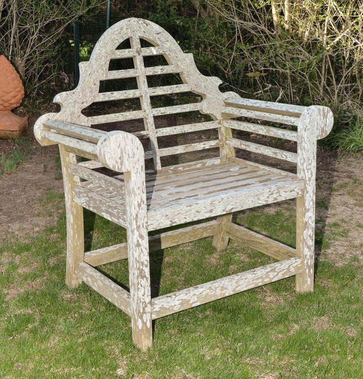 pair of english teak lutygens garden thrones at 1stdibs