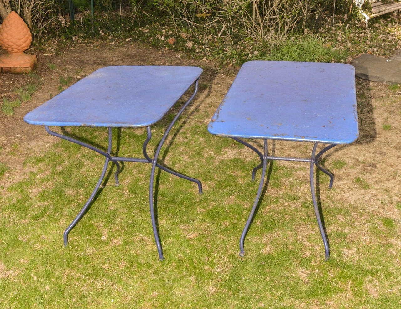 Two similar french 19th century metal garden tables at 1stdibs French metal garden furniture