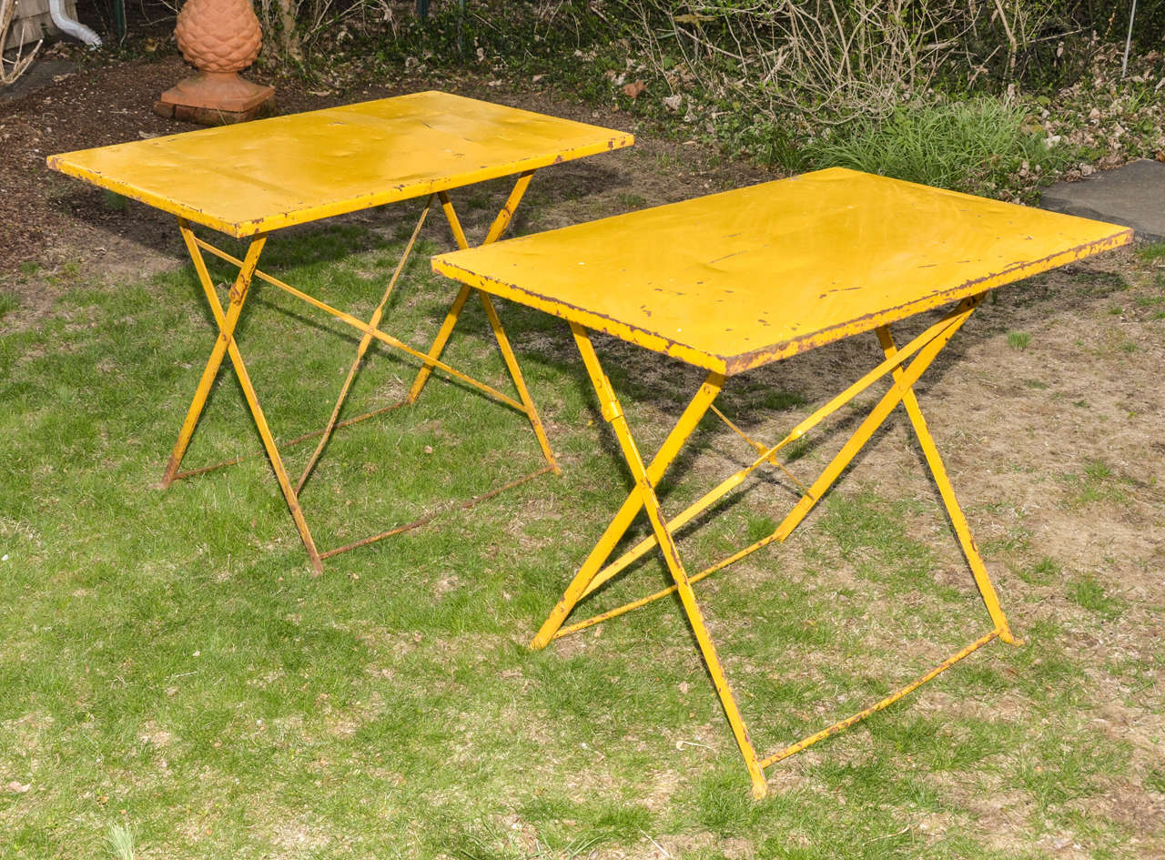 Yellow Patio Furniture : Pair of English Cowdray Yellow Folding Garden ...