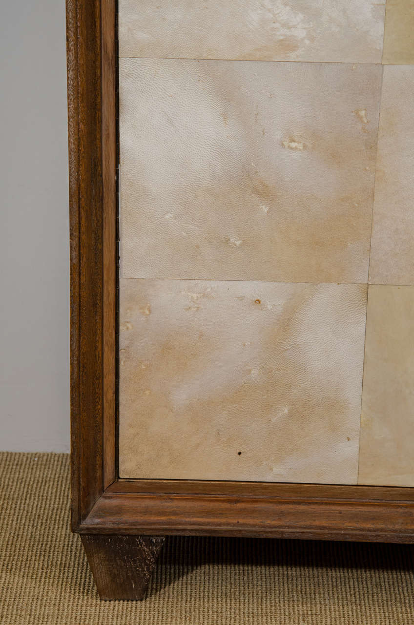 French Parchment and Cerused Oak Cabinet, circa 1940s 4