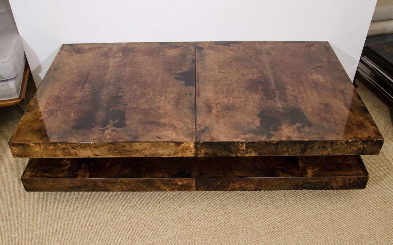 Aldo Tura Parchment Coffee Table with Interior Compartment, Italy, circa 1970 4