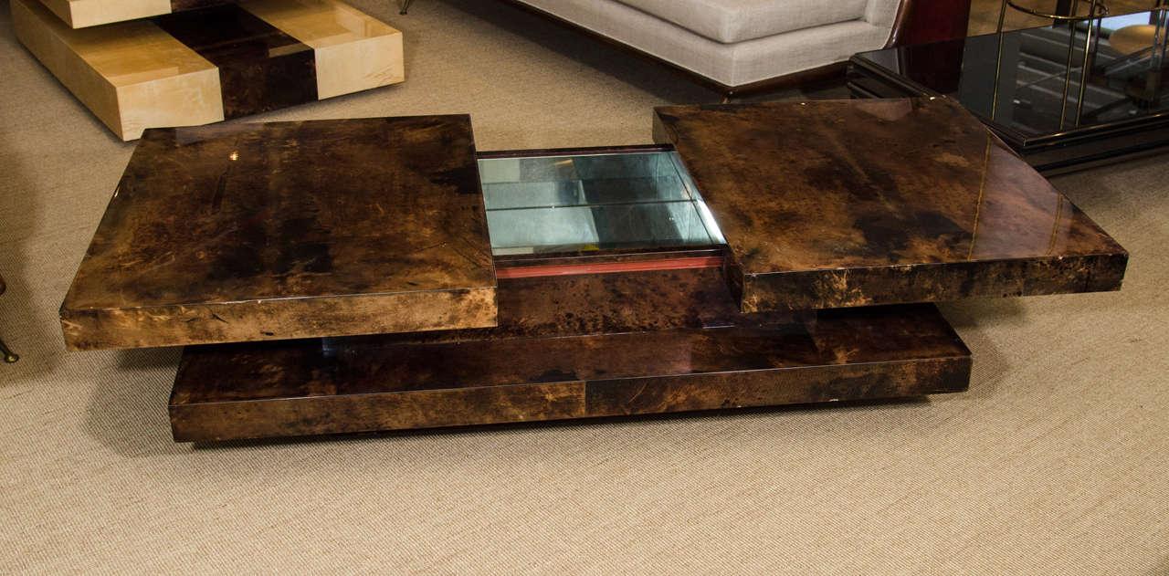 Aldo Tura Parchment Coffee Table with Interior Compartment, Italy, circa 1970 6