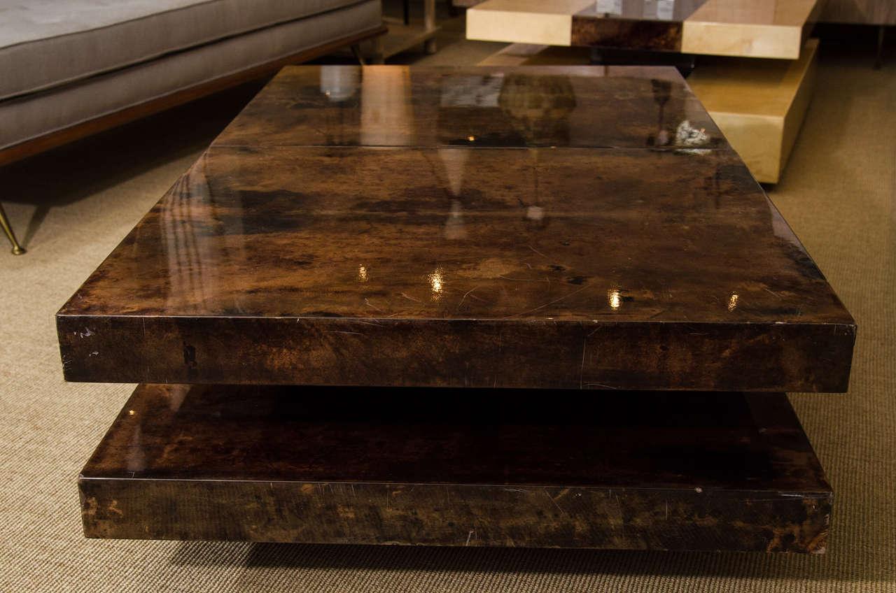 Aldo Tura Parchment Coffee Table with Interior Compartment, Italy, circa 1970 7