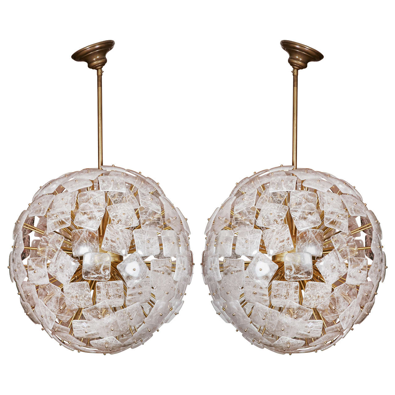 Fantastic Pair Of Rock Crystal Chandeliers 1