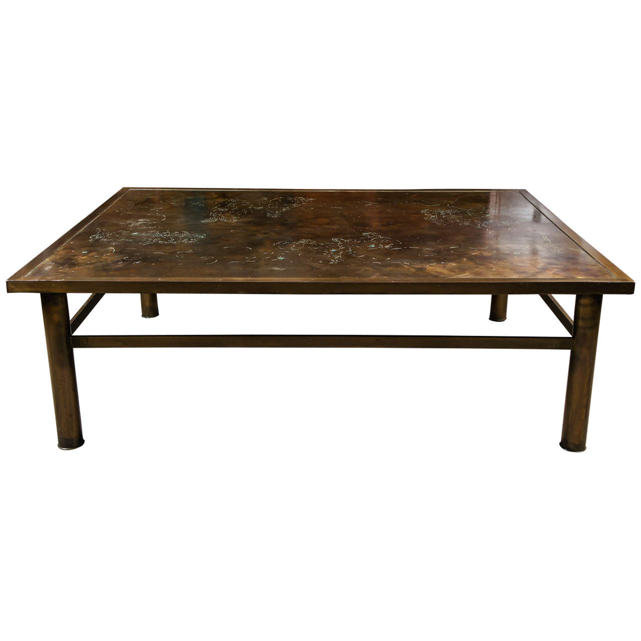 Bronze laverne coffee table at 1stdibs Bronze coffee tables