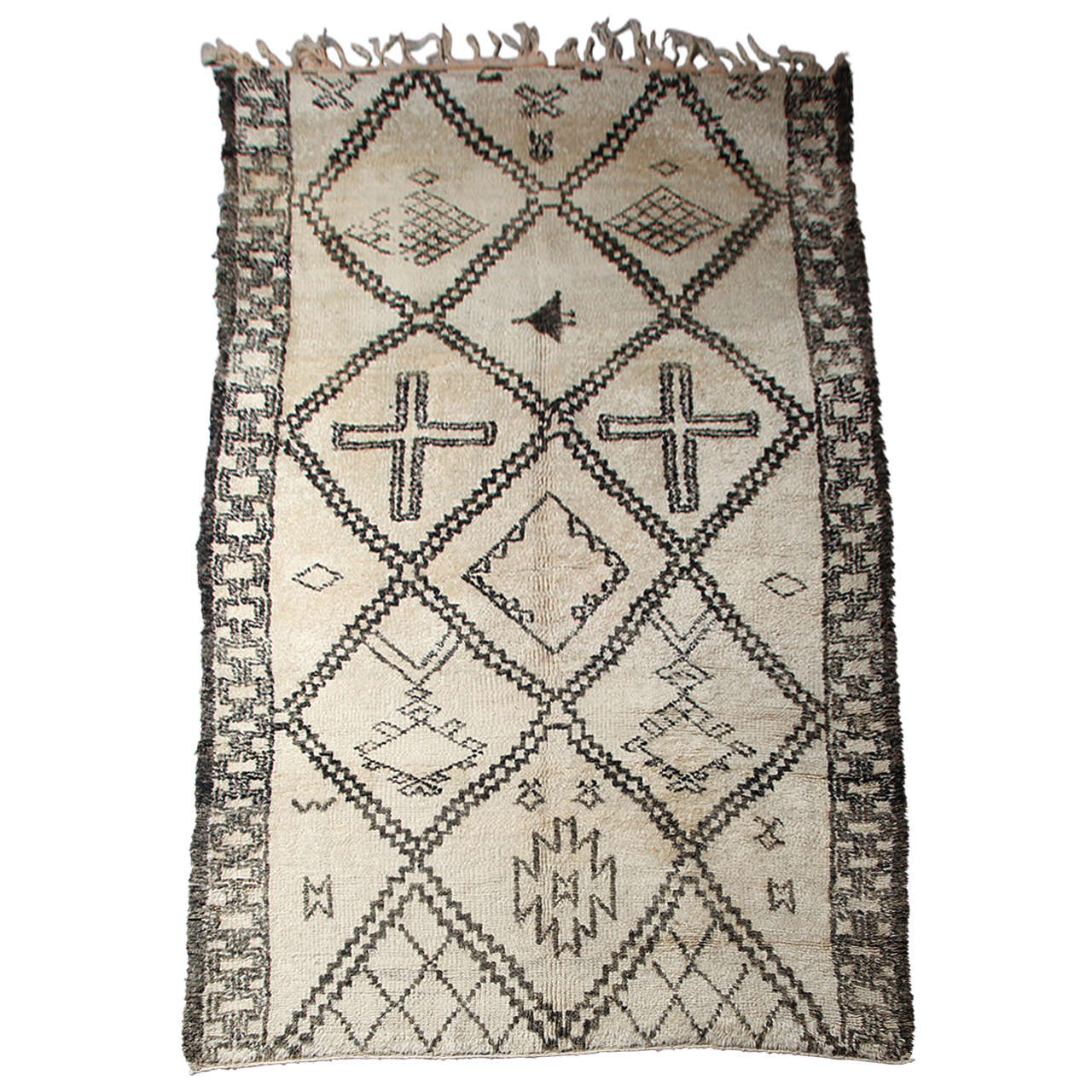 vintage beni ourain rug from morocco at 1stdibs. Black Bedroom Furniture Sets. Home Design Ideas