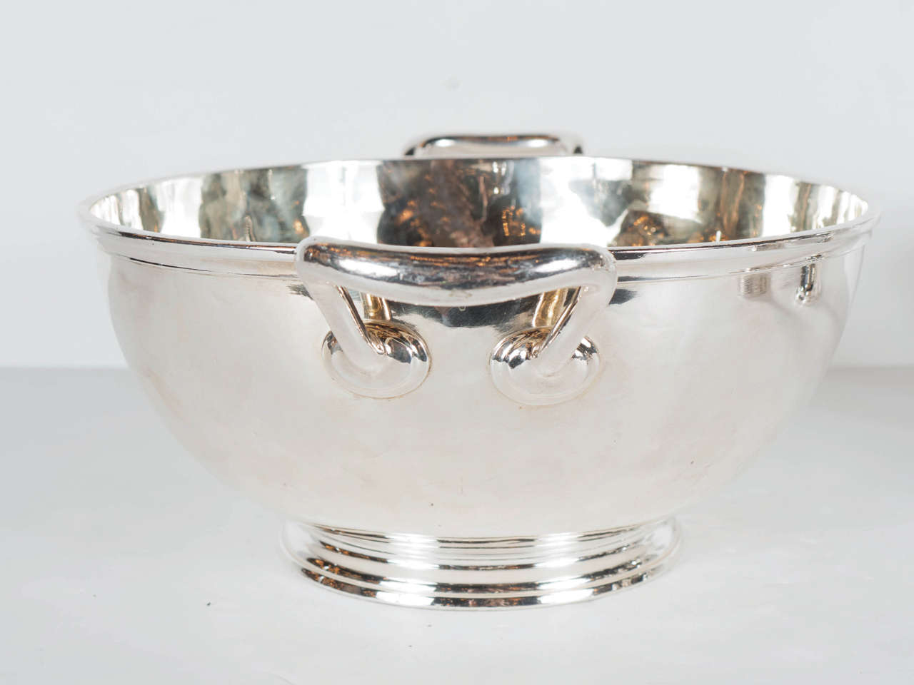 Gorgeous Art Deco Silver Plate and Gilt Bowl by Maison Christofle For Sale 2