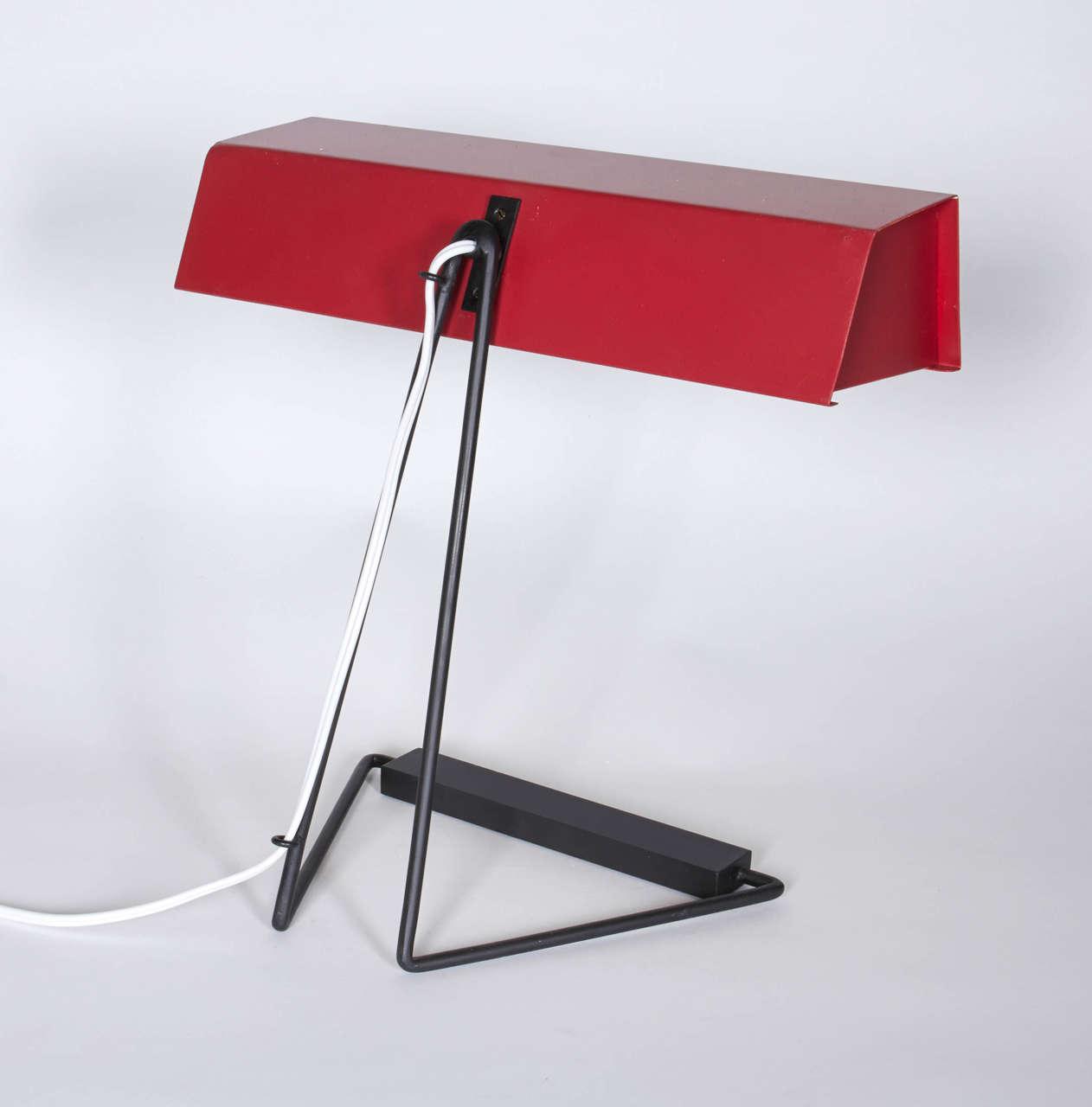 Mid-Century Modern Red Desk Lamp by Stilnovo, Italy1950s  For Sale