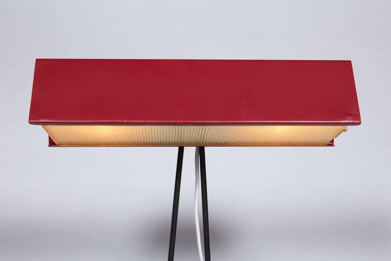 Italian Red Desk Lamp by Stilnovo, Italy1950s  For Sale