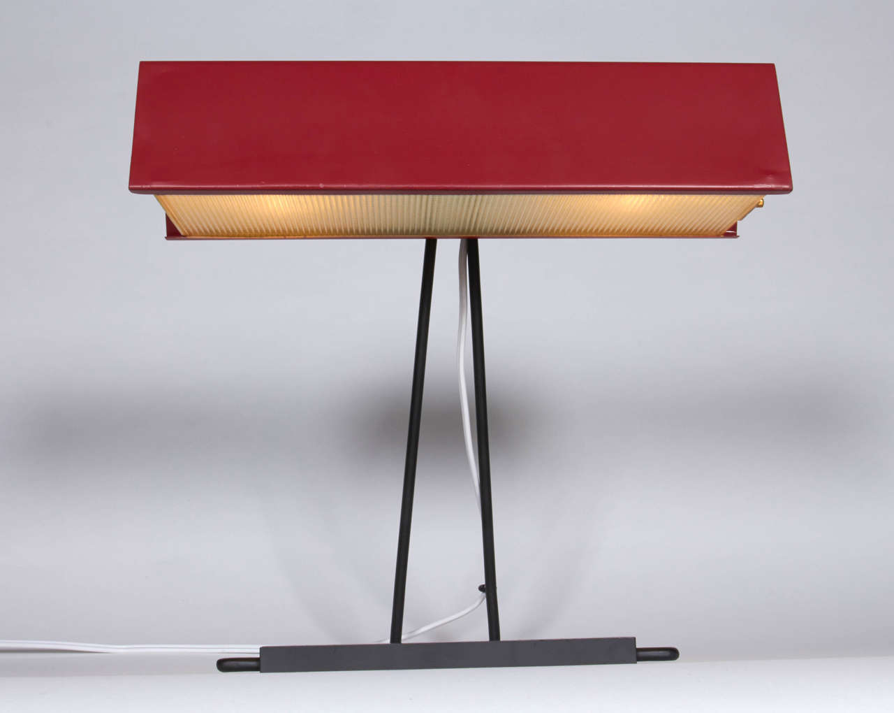 Red Desk Lamp by Stilnovo, Italy1950s  In Excellent Condition For Sale In New York, NY