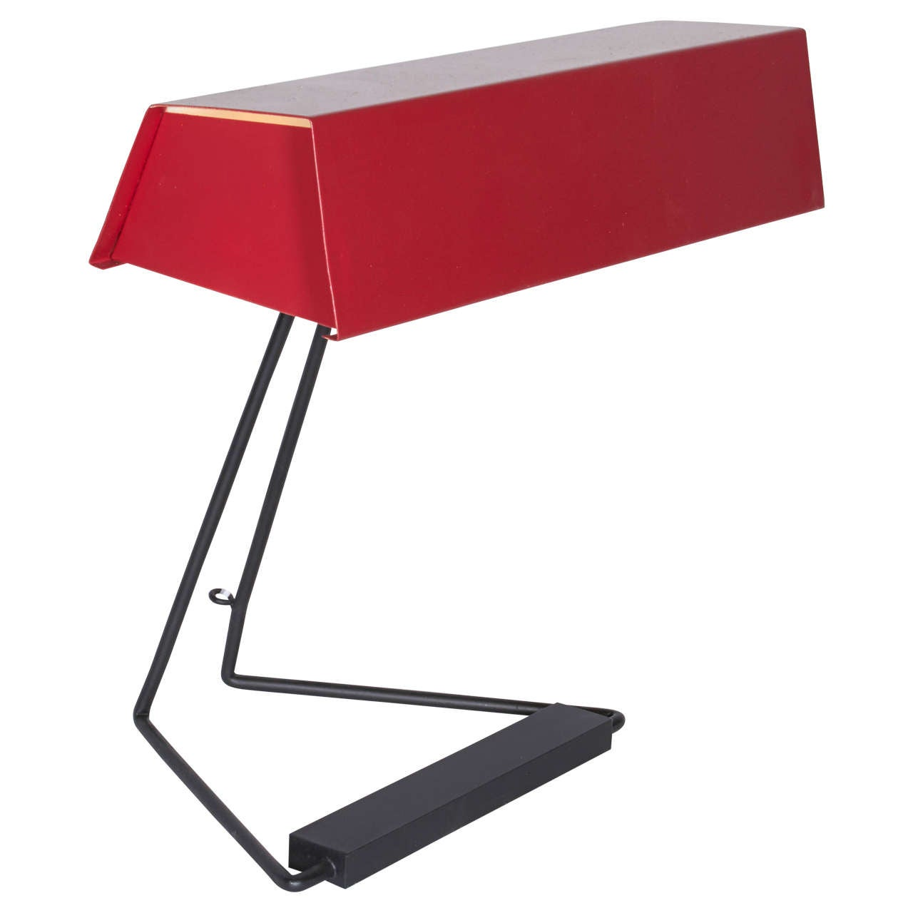 Red Desk Lamp by Stilnovo, Italy1950s  For Sale