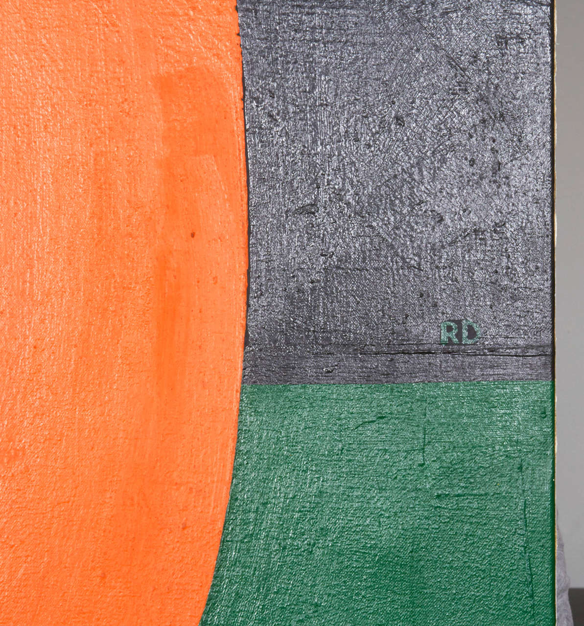 Mid-20th Century Signed Abstract Painting by Rackstraw Downes, USA, 1960s For Sale