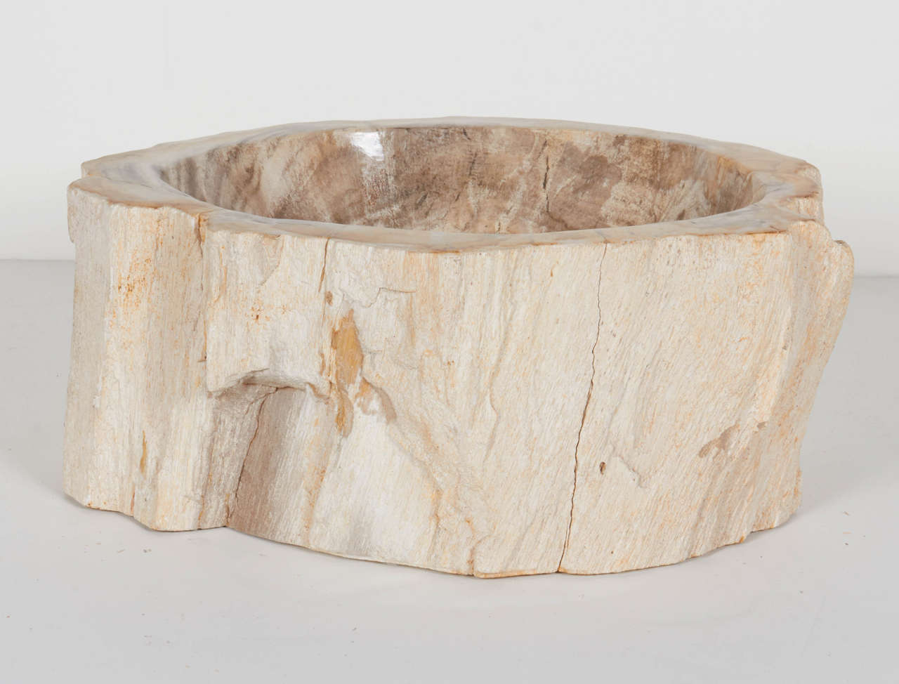 ... Rare Organic Petrified Wood Large Bowl or Sink is no longer available
