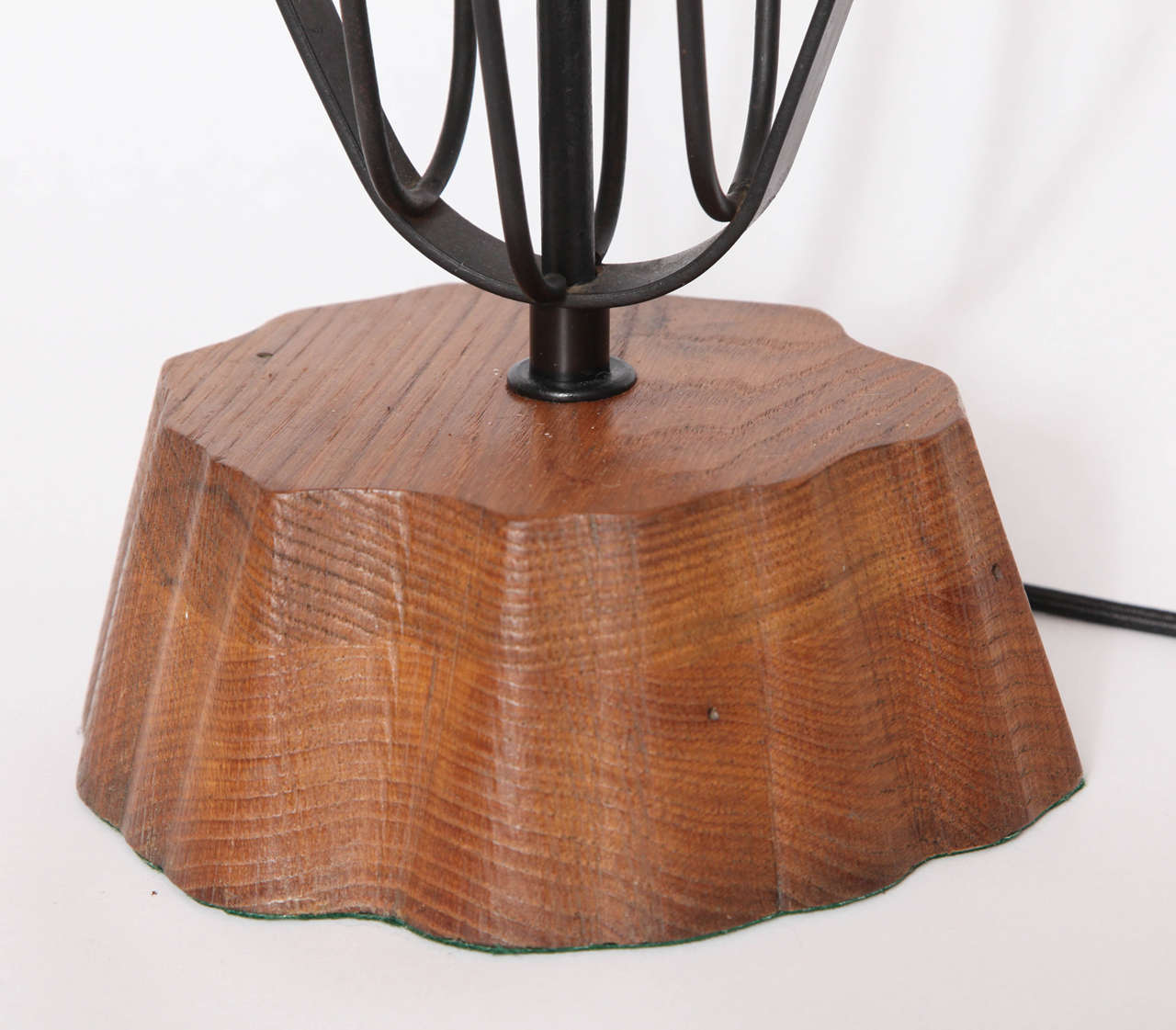 American 1950s Handcrafted Sculptural Fish Table Lamp by Heifetz For Sale