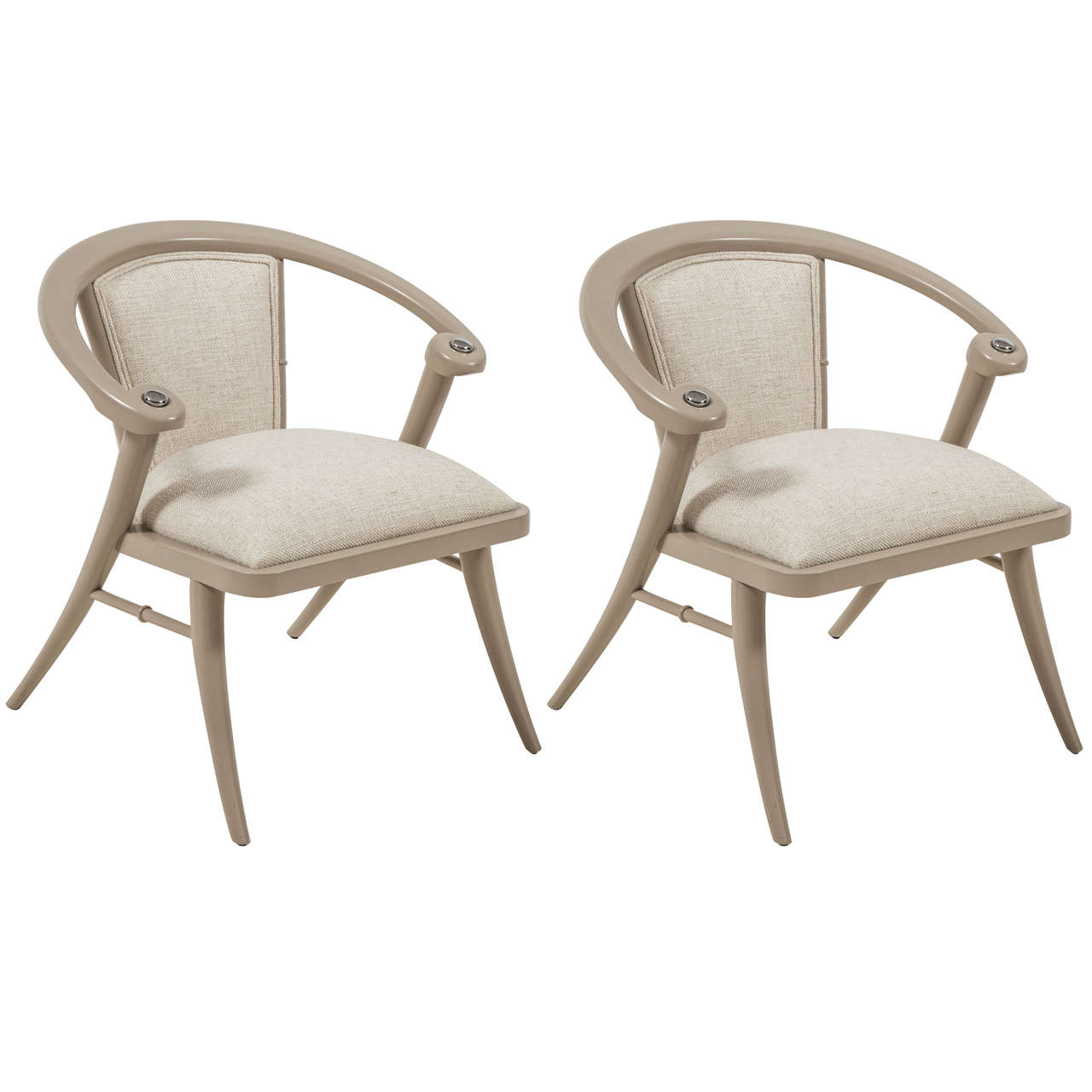 Pair of Lacquered Chairs 1