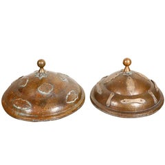 Moroccan Antique Brass covers.
