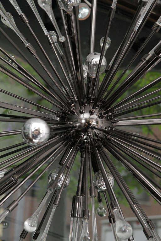 American Black Nickel-Plated Tear Drop Sputnik For Sale