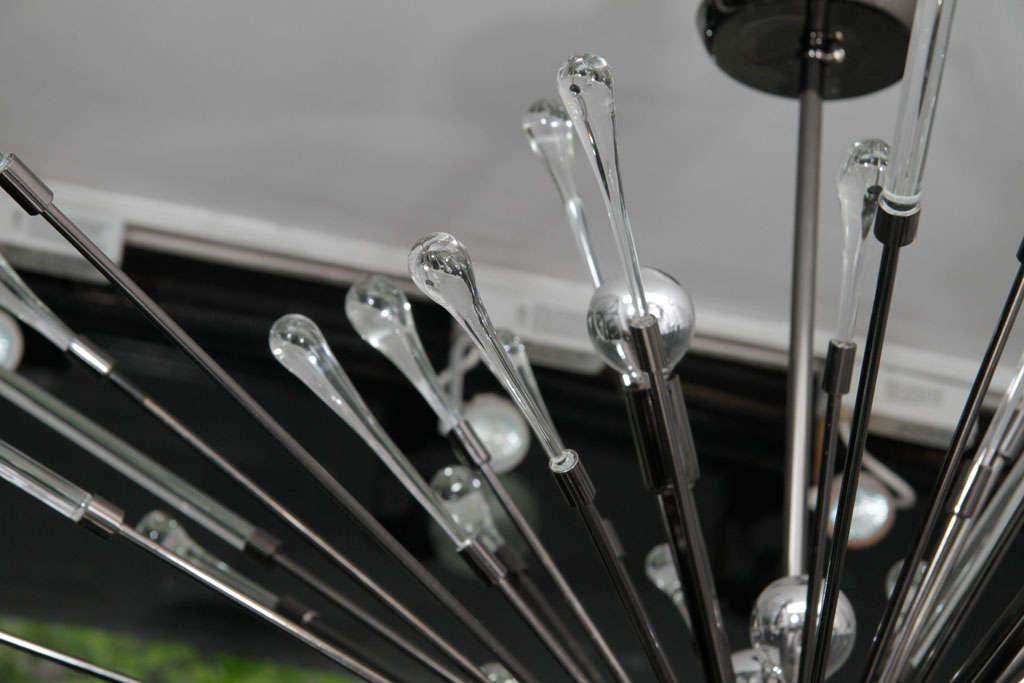20th Century Black Nickel-Plated Tear Drop Sputnik For Sale