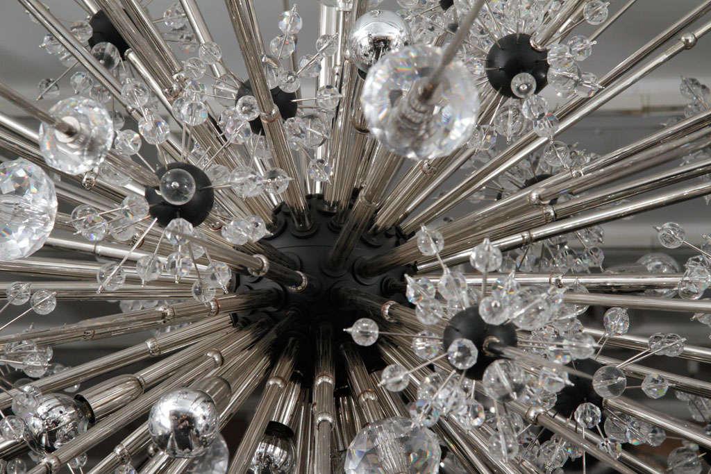 Monumental Nickel Plated Crystal Sputnik 3