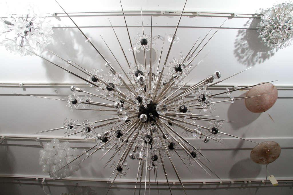 20th Century Monumental Nickel Plated Crystal Sputnik For Sale