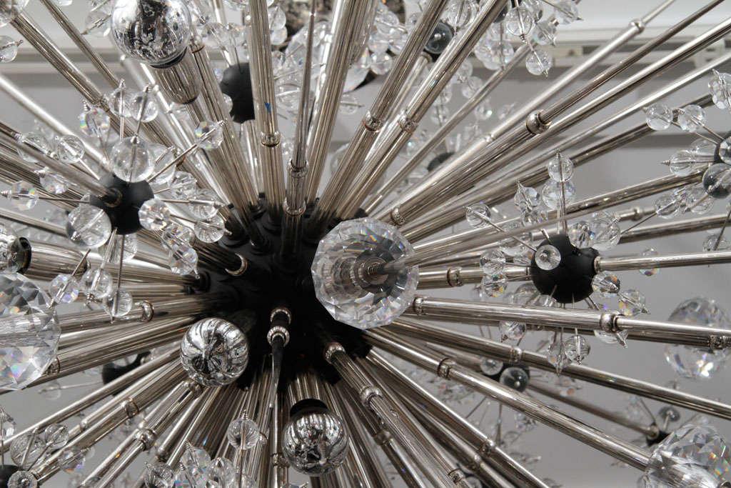Monumental Nickel Plated Crystal Sputnik For Sale 1