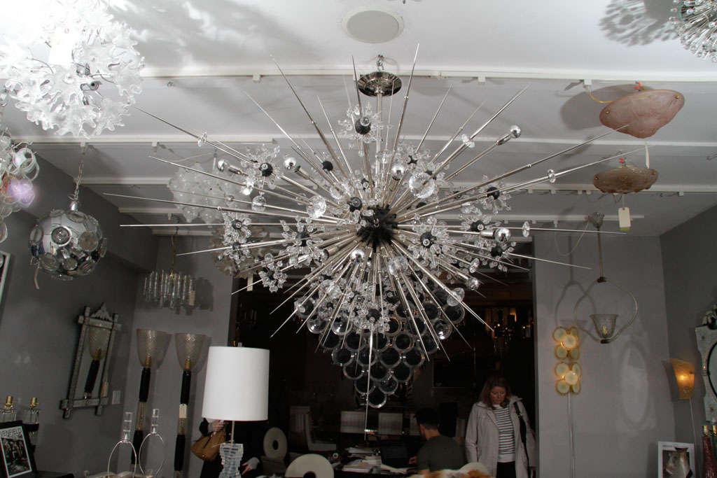 Monumental Nickel Plated Crystal Sputnik For Sale 3