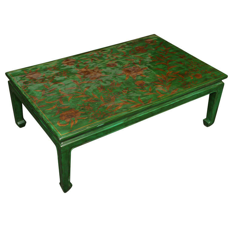 Green Coffee Table Green Coffee Table Shab Bling Antique Green Coffee Table At 1stdibs Green