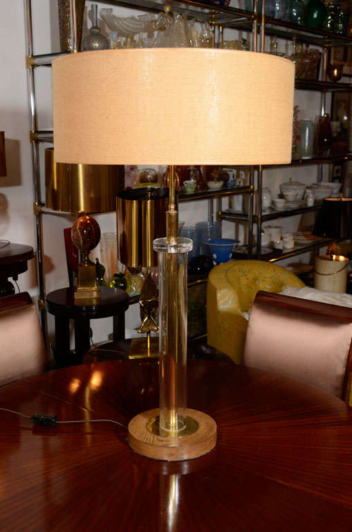Lucite table lamp by gilbert rohde american 1950s at 1stdibs for American home furniture gilbert hours