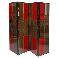 Brass & Lacquer Folding Screen for Gucci